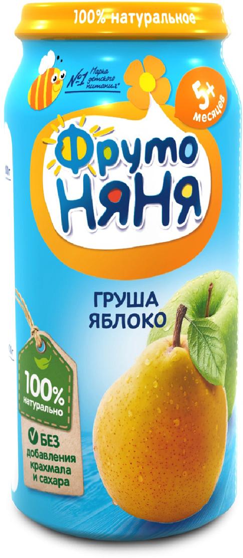 ФрутоНяня пюре из яблок и груш с 5 месяцев, 250 г фрутоняня пюре из груш с 4 месяцев 100 г
