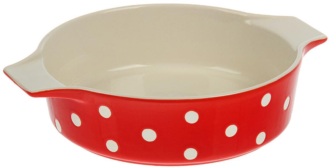Форма для выпечки Доляна Красный горох , цвет: красный, 1 л, 27 х 23 х 6 см1626491От качества посуды зависит не только вкус еды, но и здоровье человека. Форма для выпечки— товар, соответствующий российским стандартам качества. Любой хозяйке будет приятно держать его в руках. С нашей посудой и кухонной утварью приготовление еды и сервировка стола превратятся в настоящий праздник.