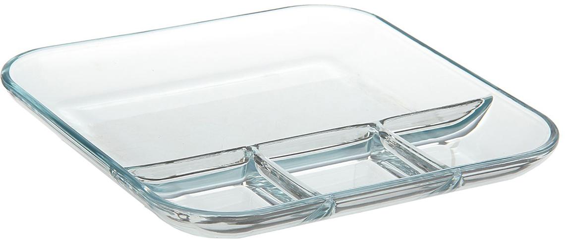 Менажница из жаропрочного стекла является универсальным предметом, который подходит для запекания и сервировки блюд.Достоинства:безопасный материал, не впитывающий запахов;лёгкость мытья;долговечность.Рекомендуется избегать использования высокоабразивных моющих средств.