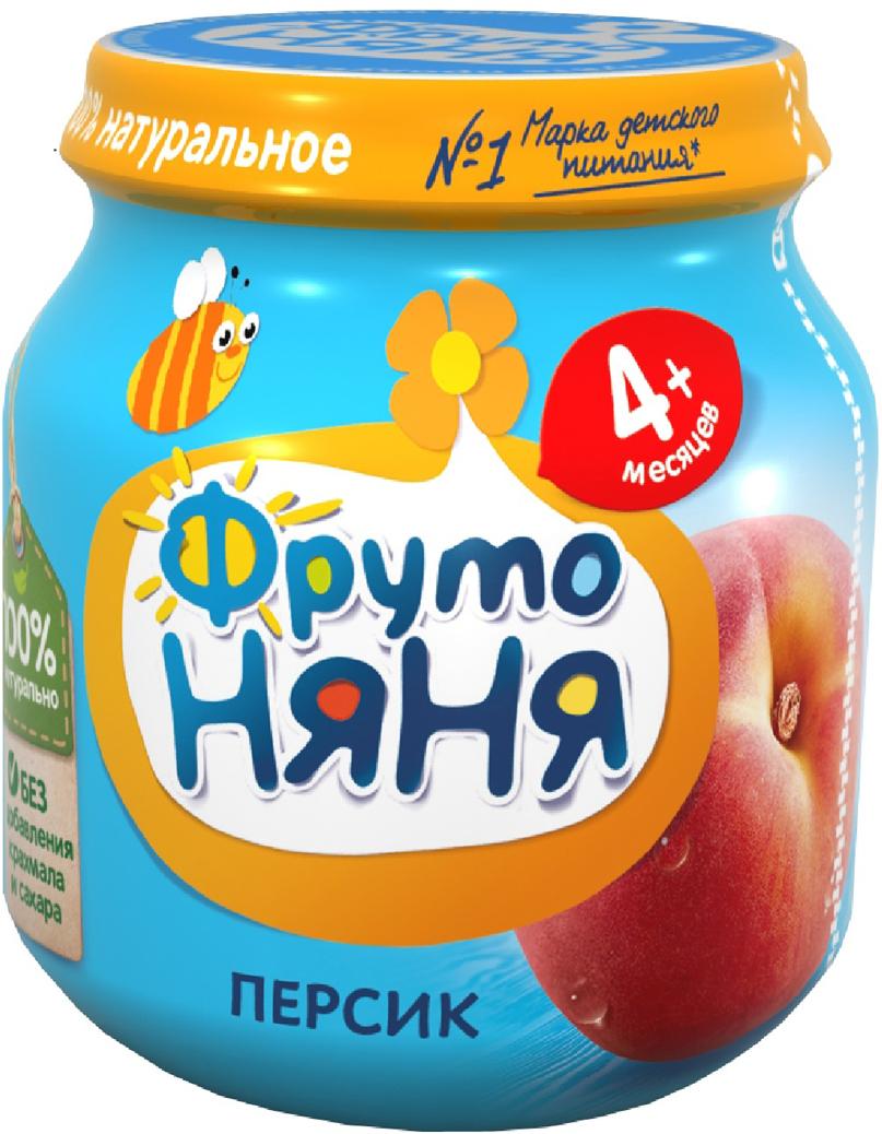 ФрутоНяня пюре из персиков с 4 месяцев, 100 г пюре фрутоняня из персиков с 4 мес 100 г