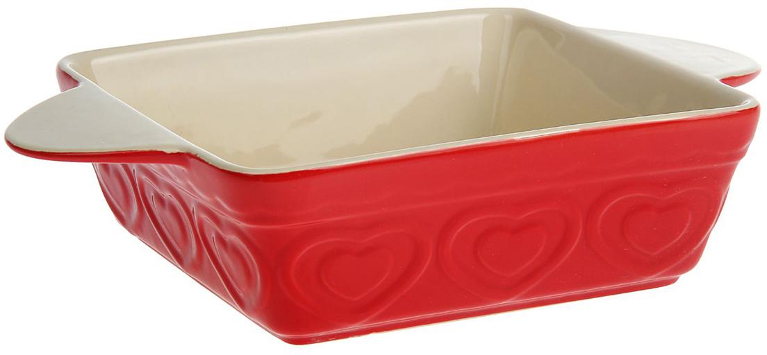 Форма для выпечки Доляна Сердце, цвет: красный, 1,2 л, 27,5 х 19 х 6,5 см1631927_красныйОт качества посуды зависит не только вкус еды, но и здоровье человека. Форма для выпечки— товар, соответствующий российским стандартам качества. Любой хозяйке будет приятно держать его в руках. С нашей посудой и кухонной утварью приготовление еды и сервировка стола превратятся в настоящий праздник.