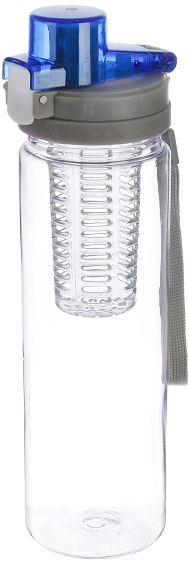 Бутылка спортивная Колба, с крышкой, на шнурке, цвет: синий, 750 мл2590468_синийОт качества посуды зависит не только вкус еды, но и здоровье человека. Бутылка - товар, соответствующий российским стандартам качества. Любой хозяйке будет приятно держать его в руках. С данной посудой и кухонной утварью приготовление еды и сервировка стола превратятся в настоящий праздник.