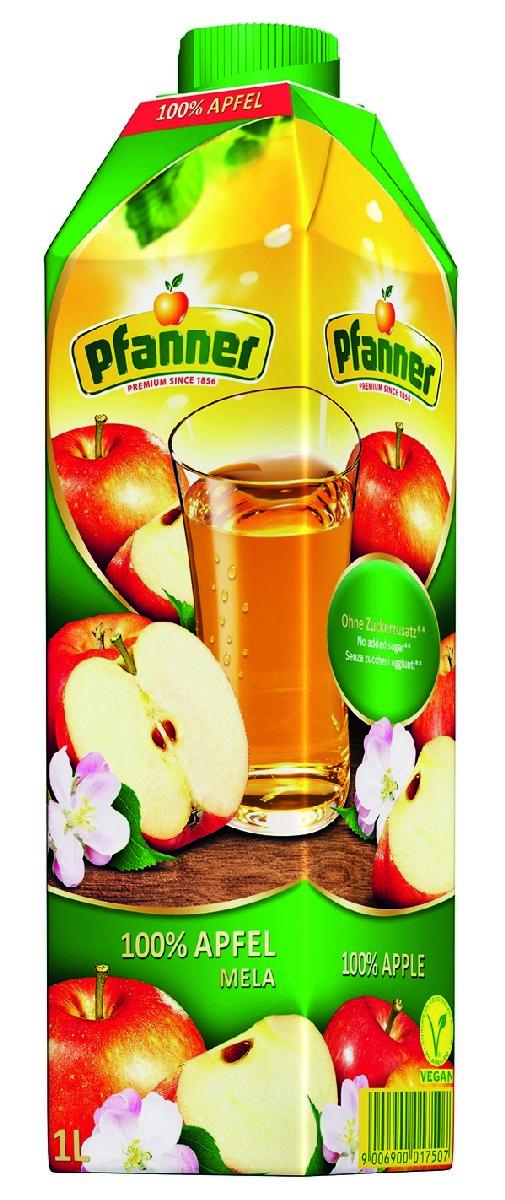 Pfanner Сок яблоко, 1 л pfanner сок розовый грейпфрут 1 л