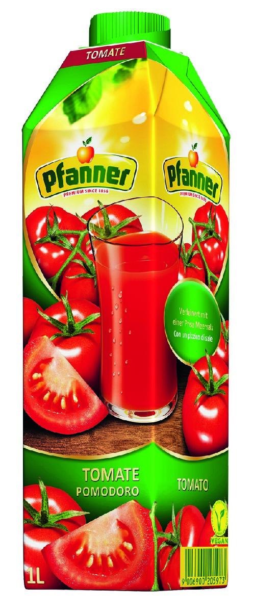 Pfanner Сок томат, 1 л pfanner сок яблоко с мякотью био 500 мл
