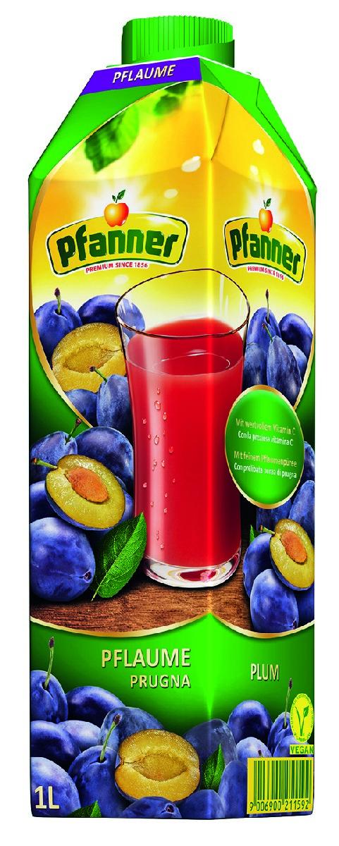 Pfanner Напиток слива, 1 л фрутмотив напиток вишня 1 5 л
