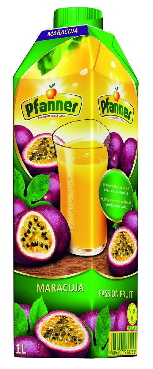 Pfanner Напиток маракуйя, 1 л pfanner чай холодный желтый лимон физалис 2 л