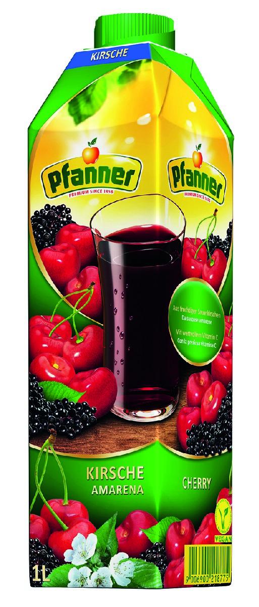Pfanner Напиток вишня, 1 л фрутмотив напиток вишня 1 5 л