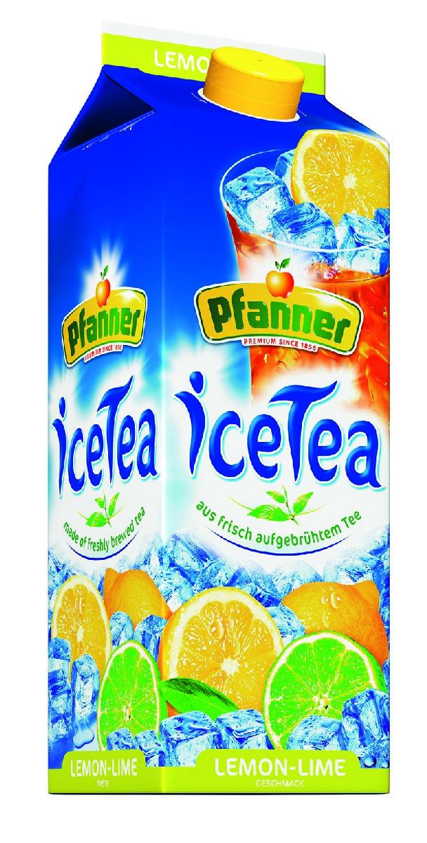 Pfanner Чай холодный лимон-лайм, 2 л pfanner чай холодный желтый лимон физалис 2 л