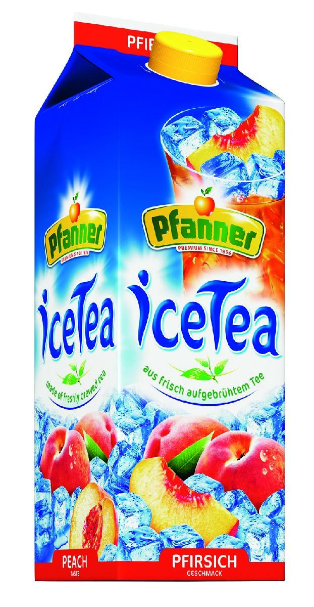 Pfanner Чай холодный персик, 2 л pfanner чай холодный желтый лимон физалис 2 л