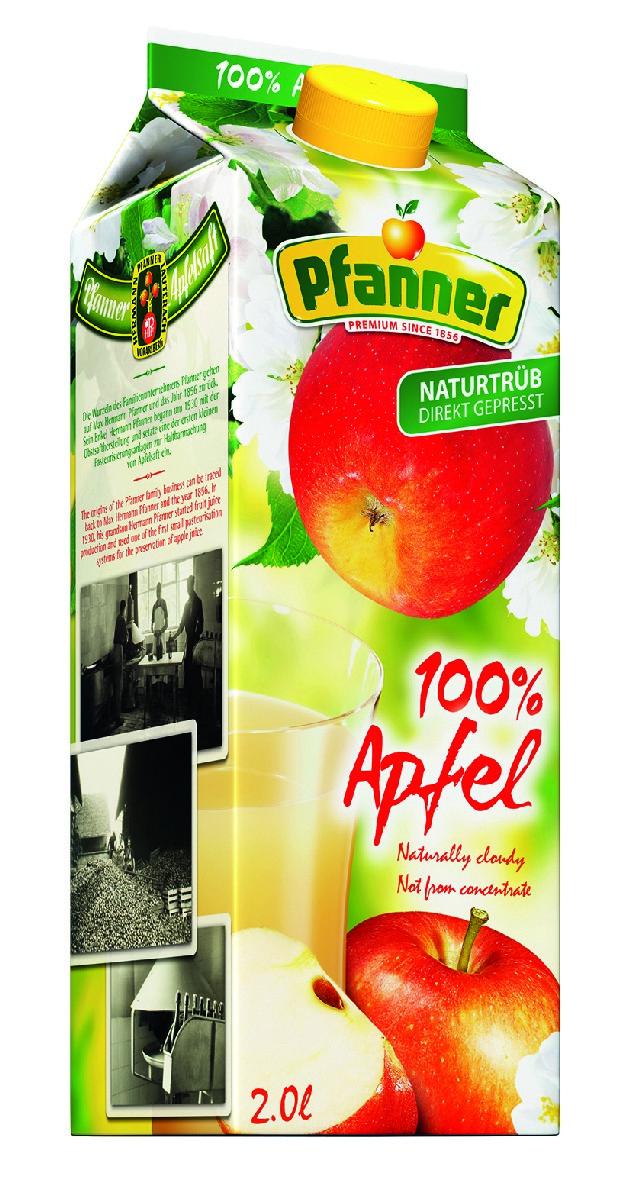 Pfanner Сок свежее яблоко нефильтрованный, 2л о сок ананасовый о 2л