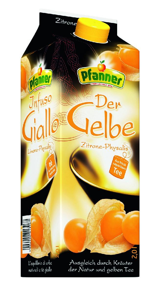 Pfanner Чай холодный желтый лимон-физалис, 2 л желтый полосатик дальпико рыбсервис 60г