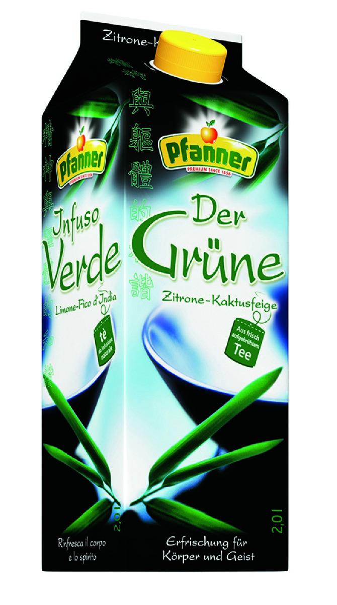 Pfanner Чай холодный зеленый лимон-кактус, 2 л pfanner чай холодный желтый лимон физалис 2 л