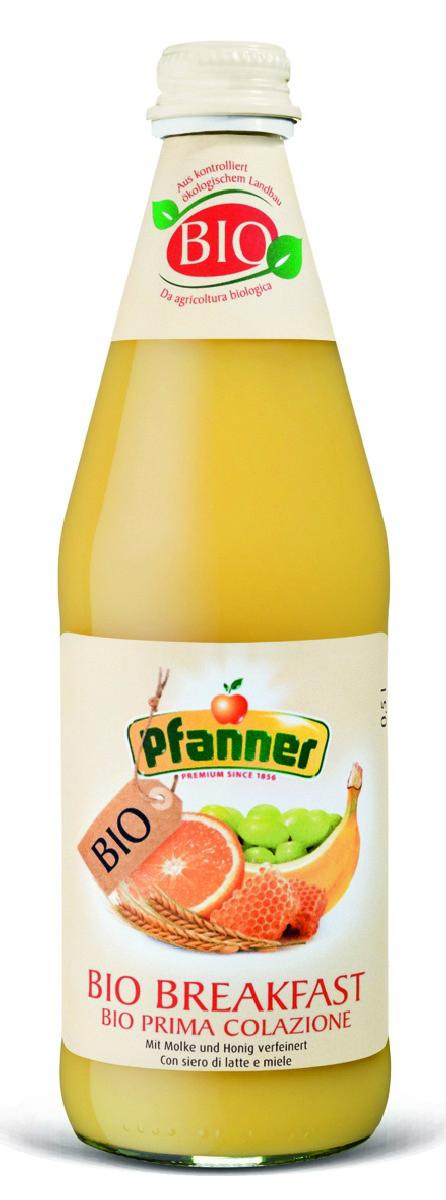 Pfanner Напиток для завтрака с сывороткой БИО, 500 мл pfanner сок розовый грейпфрут 1 л