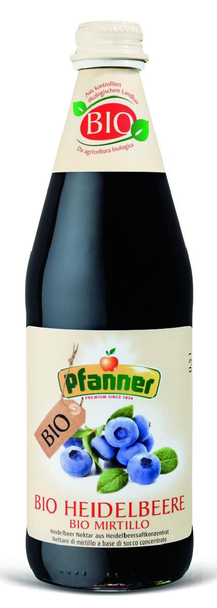 Pfanner Нектар черника БИО, 500 мл чистое мягкое с