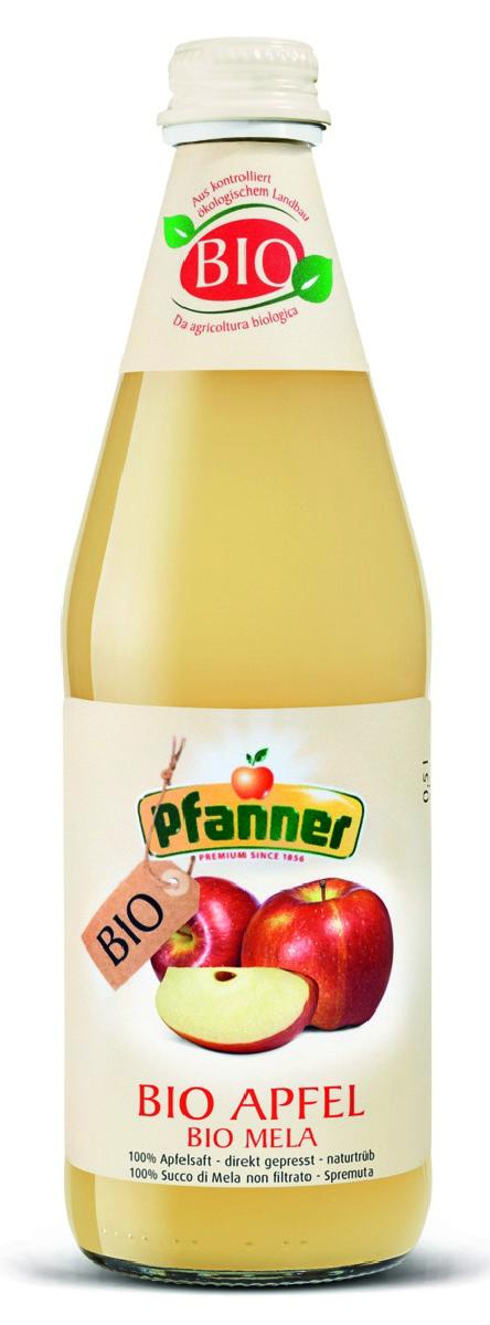 Pfanner Сок яблоко с мякотью БИО, 500 мл pfanner сок розовый грейпфрут 1 л
