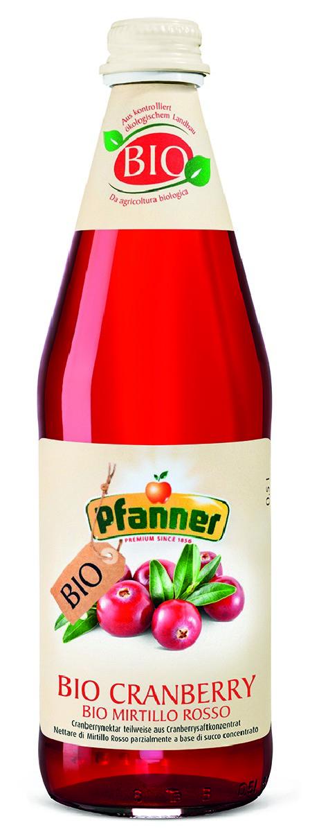 Pfanner Нектар клюква БИО, 500 мл pfanner нектар гранат био 500 мл