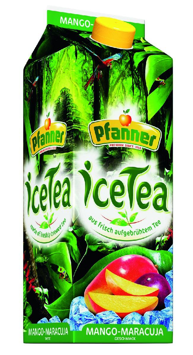Pfanner Чай холодный манго-маракуйя, 2 л дом 2 энерджи чай черный с гуараной в пакетиках 20 шт
