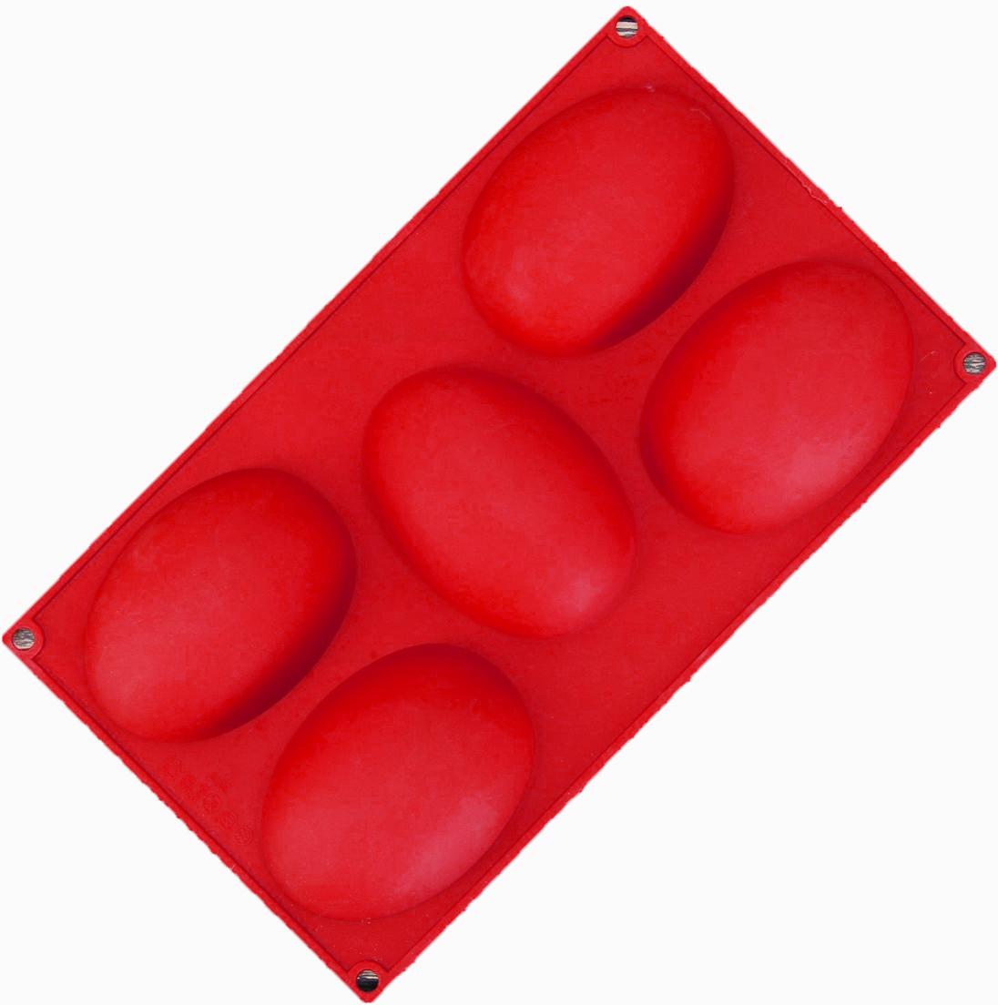 Форма для выпечки Доляна Яйцо, цвет: красный, 5 ячеек, 30 х 17,5 х 3 см2854665_красныйОт качества посуды зависит не только вкус еды, но и здоровье человека. Форма для выпечки— товар, соответствующий российским стандартам качества. Любой хозяйке будет приятно держать его в руках. С нашей посудой и кухонной утварью приготовление еды и сервировка стола превратятся в настоящий праздник.