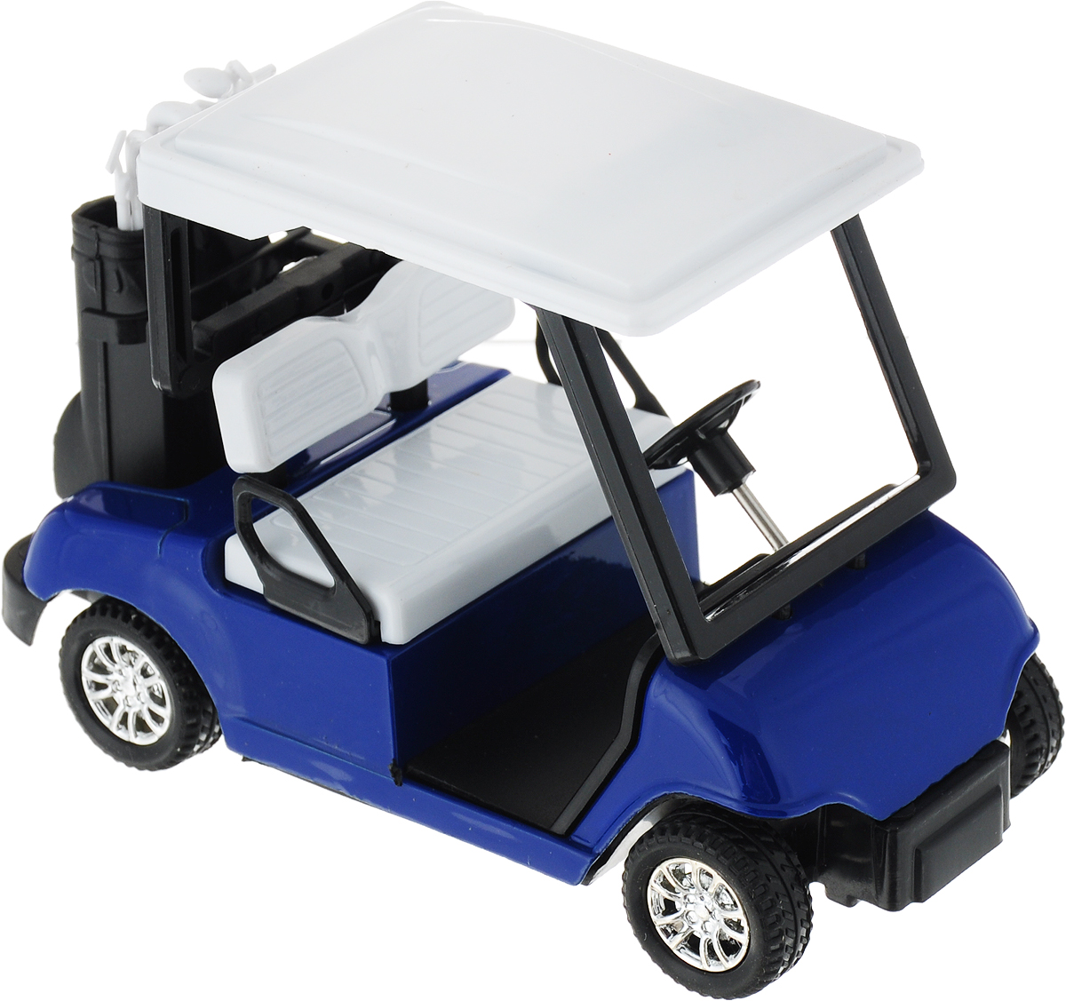 Технопарк Машинка инерционная Гольф-карт цвет синий белый черный технопарк машинка газ 13 чайка цвет черный