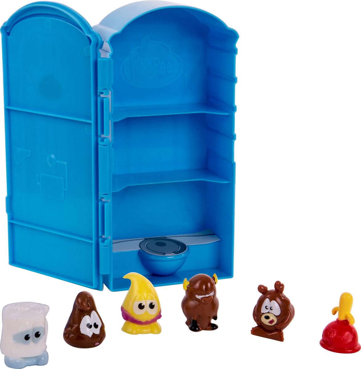 Poopeez Игровой набор Туалетная кабинка с фигурками бокс для хранения вещей kiss the plastic industry