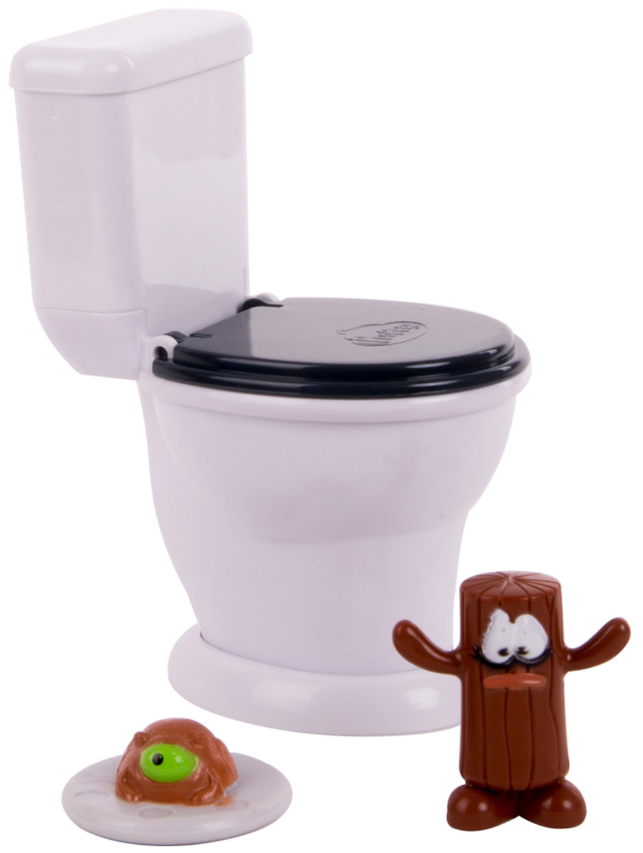 Poopeez Игровой набор Туалет-лончер с пусковым механизмом и фигурками