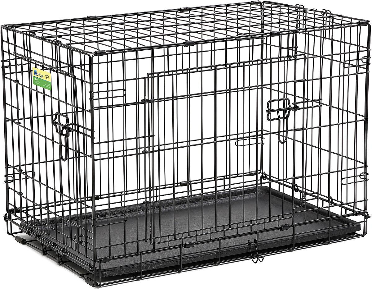 Клетка Midwest Contour, 2 двери, 76 х 48 х 53 см цена