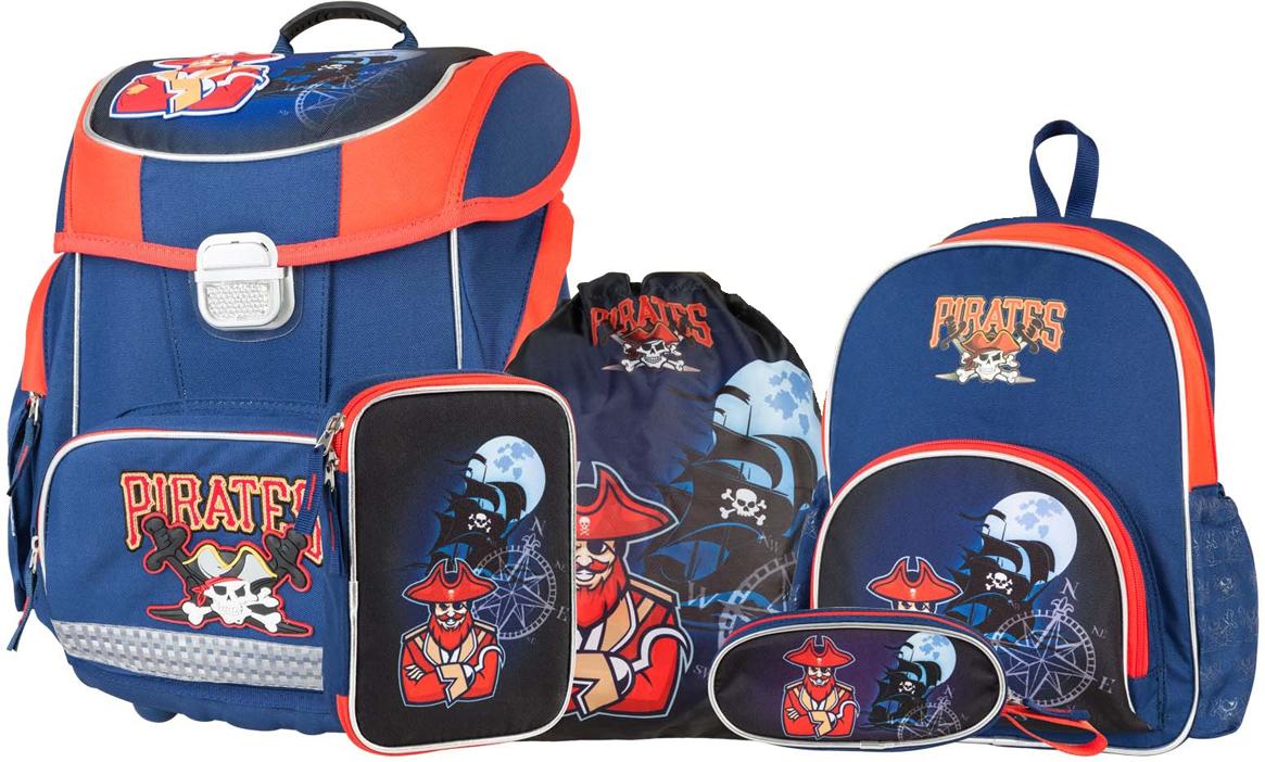 Target Collection Ранец школьный Пираты с наполнением 5 предметов пеналы target collection пенал с канцтоварами fc bavaria 2