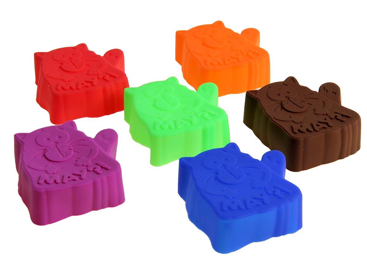 Набор форм для запекания Котэ, 7 х 7 см, 6 шт набор форм для запекания marmiton диаметр 27 5 см 5 шт