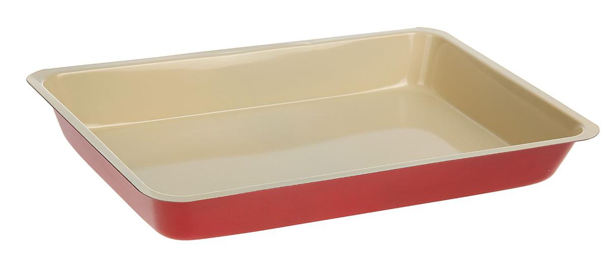 Форма для выпечки Доляна Прямоугольник. Флери, с керамическим покрытием, цвет: красный, 32 х 22 х 5 см1046819От качества посуды зависит не только вкус еды, но и здоровье человека. Форма для выпечки — товар, соответствующий российским стандартам качества. Любой хозяйке будет приятно держать его в руках.