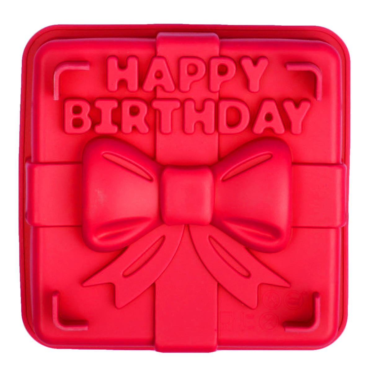 Форма для выпечки Доляна Happy Birthday, силиконовая, цвет: красный, 21,5 х 20 х 6,9 см2798198_красныйОт качества посуды зависит не только вкус еды, но и здоровье человека. Форма для выпечки — товар, соответствующий российским стандартам качества. Любой хозяйке будет приятно держать его в руках.