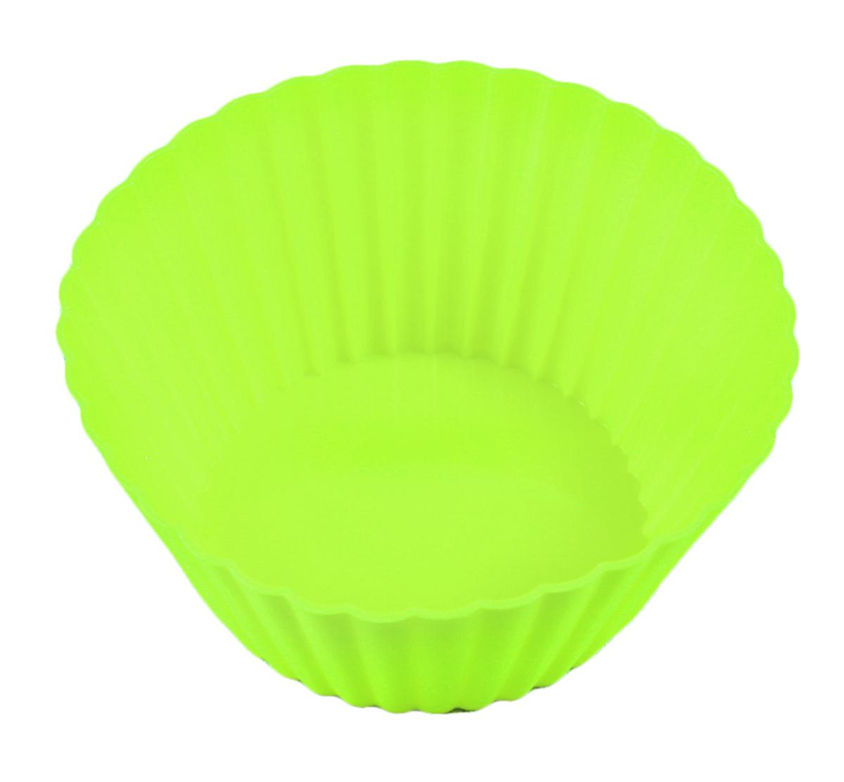 Форма для выпечки Доляна Круг. Риб, силиконовая, цвет: зеленый, диаметр 15 см811941_зеленыйОт качества посуды зависит не только вкус еды, но и здоровье человека. Форма для выпечки— товар, соответствующий российским стандартам качества. Любой хозяйке будет приятно держать его в руках. С нашей посудой и кухонной утварью приготовление еды и сервировка стола превратятся в настоящий праздник.