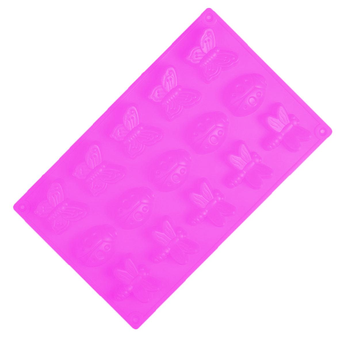 Форма для выпечки Доляна Пыльца, силиконовая, цвет: розовый, 27 х 17 х 2 см, 15 ячеек1057125_розовыйОт качества посуды зависит не только вкус еды, но и здоровье человека. Форма для выпечки — товар, соответствующий российским стандартам качества. Любой хозяйке будет приятно держать его в руках.