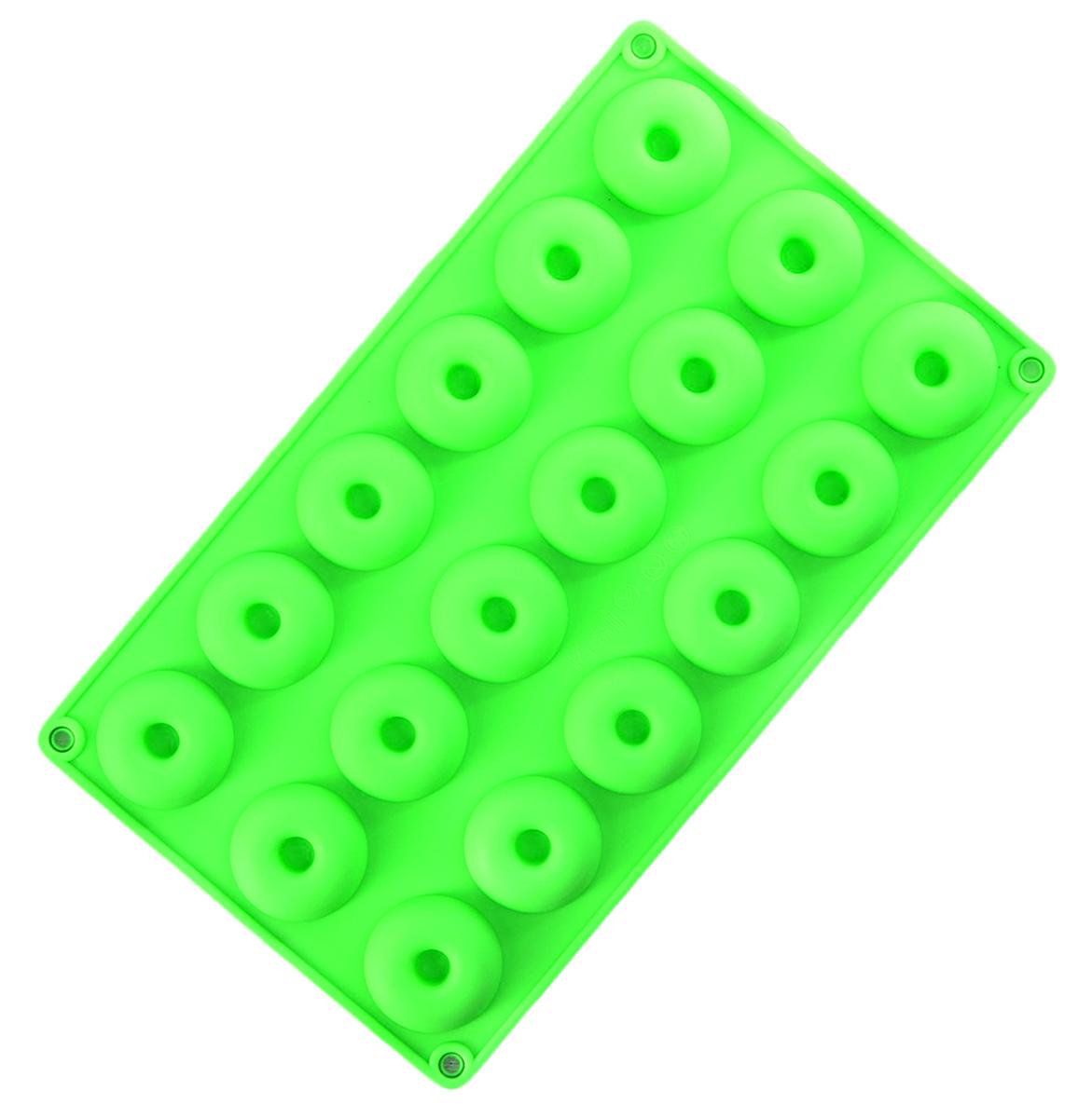 Форма для выпечки Доляна Круг. Риб, силиконовая, цвет: зеленый, 29 х 17 х 1,5 см, 18 ячеек2818746_зеленыйОт качества посуды зависит не только вкус еды, но и здоровье человека. Форма для выпечки — товар, соответствующий российским стандартам качества. Любой хозяйке будет приятно держать его в руках.