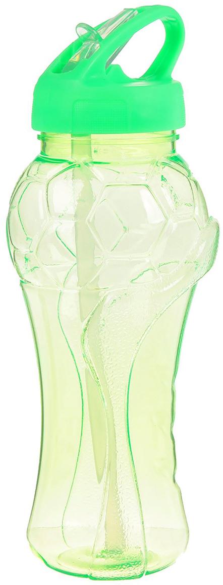 Бутылка спортивная Мяч, с поильником, цвет: зеленый, 550 мл2512387_зеленыйОт качества посуды зависит не только вкус еды, но и здоровье человека. Бутылка - товар, соответствующий российским стандартам качества. Любой хозяйке будет приятно держать его в руках. С данной посудой и кухонной утварью приготовление еды и сервировка стола превратятся в настоящий праздник.