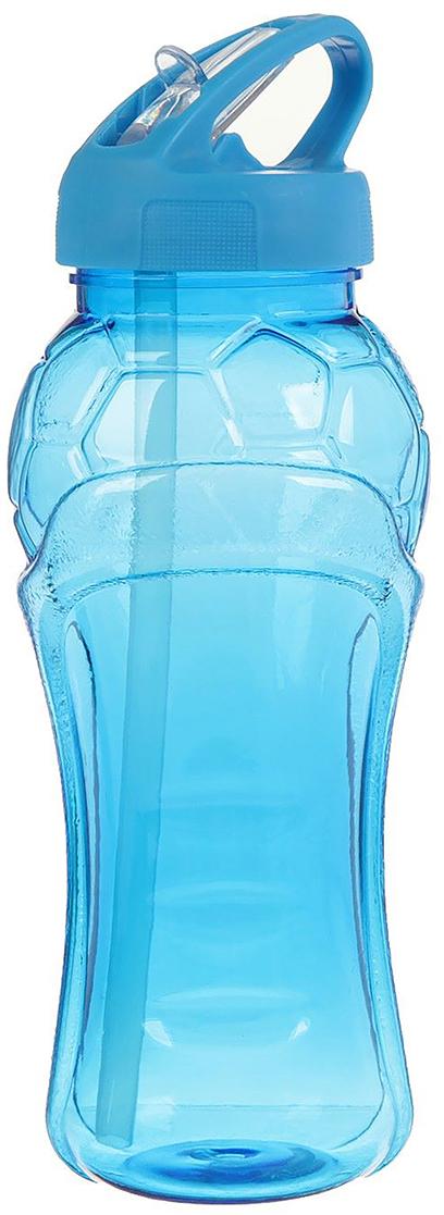 Бутылка спортивная Мяч, с поильником, цвет: голубой, 550 мл2512387_голубойОт качества посуды зависит не только вкус еды, но и здоровье человека. Бутылка - товар, соответствующий российским стандартам качества. Любой хозяйке будет приятно держать его в руках. С данной посудой и кухонной утварью приготовление еды и сервировка стола превратятся в настоящий праздник.