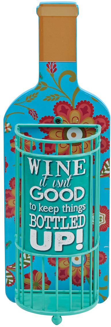 """Декоративная емкость для винных пробок Boston """"Bottled Up"""" выполнена из дерева и металла. Такой аксессуар оформит интерьер вашей кухни и станет незаменимым для хранения пробок.Высота: 35 смШирина: 12 смДлина: 8 см."""