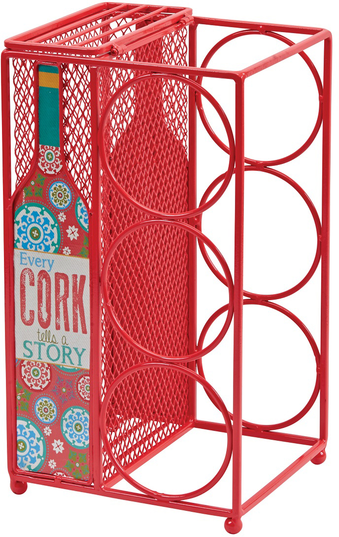 """Декоративная емкость для винных пробок и бутылок Boston """"Cork Story"""" выполнена из металла. Такой яркий аксессуар оформит интерьер вашей кухни и станет незаменимым для хранения пробок и бутылок.Высота: 33 смШирина: 18,4 смДлина: 15,9 см."""