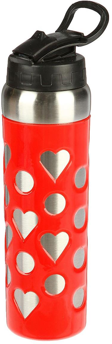 Фляга Сердечки, с трубочкой, цвет: красный, 700 мл2385936_красныйОт качества посуды зависит не только вкус еды, но и здоровье человека. Фляжка - товар, соответствующий российским стандартам качества. Любой хозяйке будет приятно держать его в руках. С данной посудой и кухонной утварью приготовление еды и сервировка стола превратятся в настоящий праздник.
