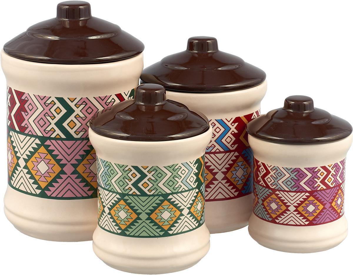 Набор банок для сыпучих продуктов Elrington Дхарави, 4 шт