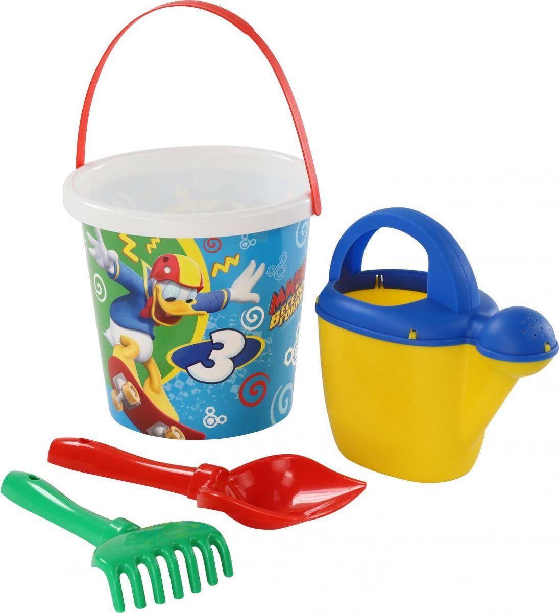 Disney Набор игрушек для песочницы Микки и Веселые гонки №9 4 предмета игра настольная веселые гонки и божьи коровки