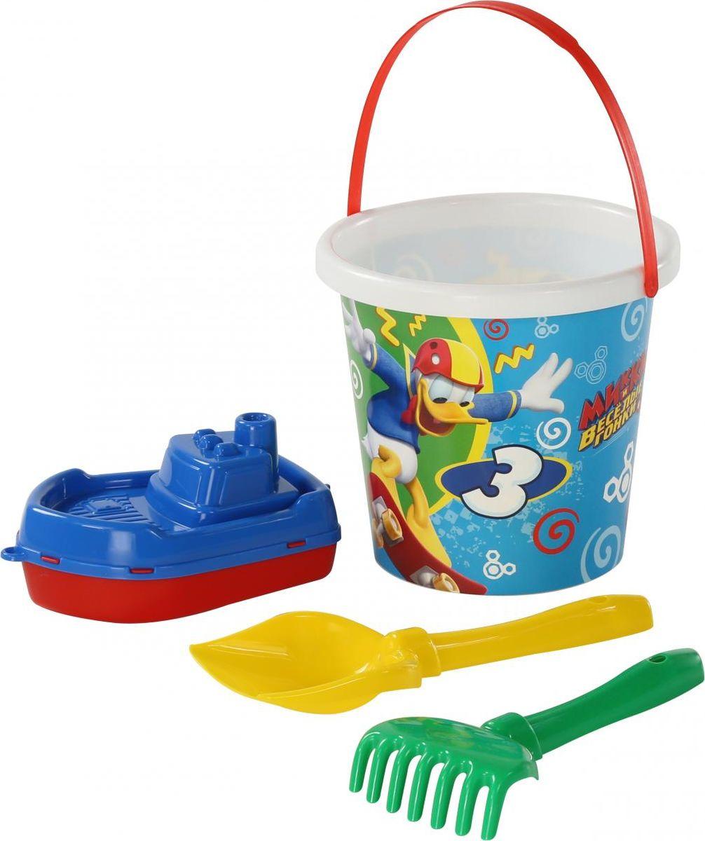 Disney Набор игрушек для песочницы Микки и Веселые гонки №10 игра настольная веселые гонки и божьи коровки