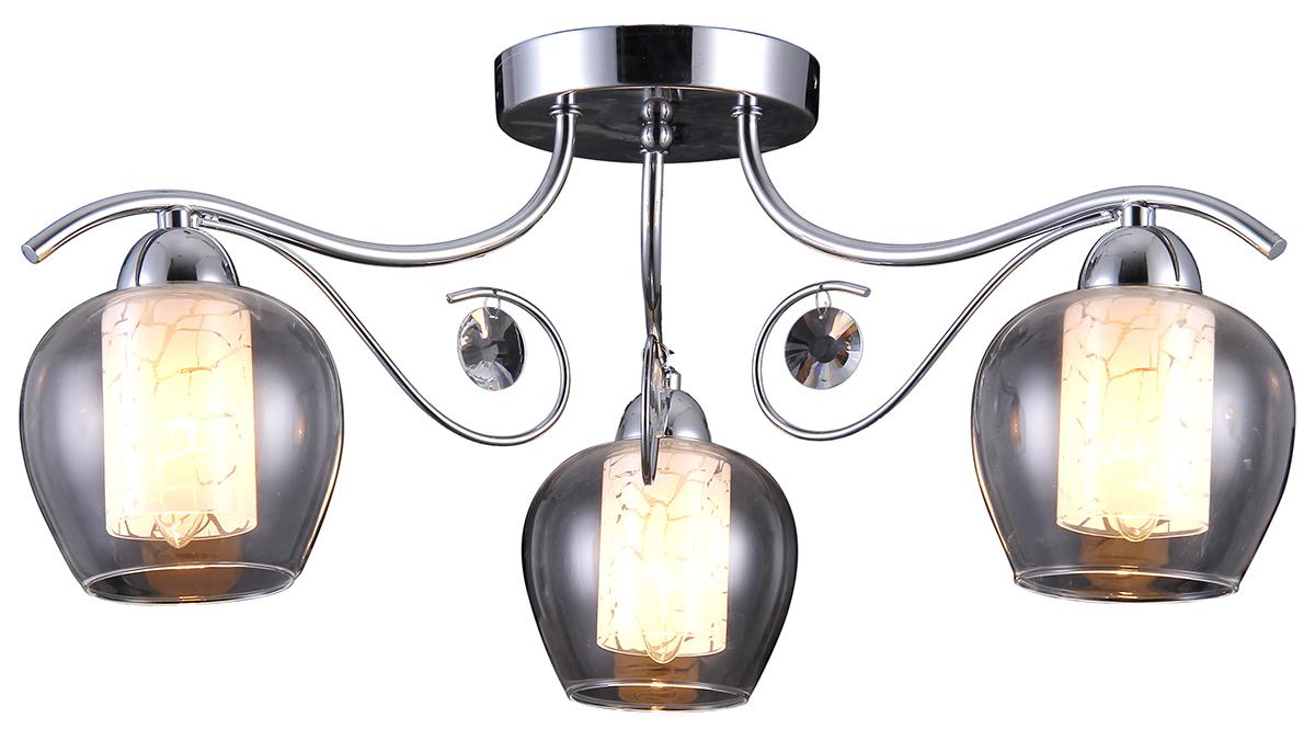 Люстра Natali Kovaltseva, 3 х E14, 40W. 75020-3C CHROME75020-3C CHROMEКлассический стиль зародился еще в античные времена. Классика вне времени. Такие люстры пользуются особой популярностью среди ценителей изысканности и роскоши. Светильники в стиле классика самый любимый декоративный элемент мировых интерьер-дизайнеров.Светильники данной серии от Natali Kovaltseva имеют очень практичный и функциональный дизайн, отличное качество и простота в эксплуатации. Срок службы этих светильников превышает десятилетие. Размеры: D59 x H24 cm