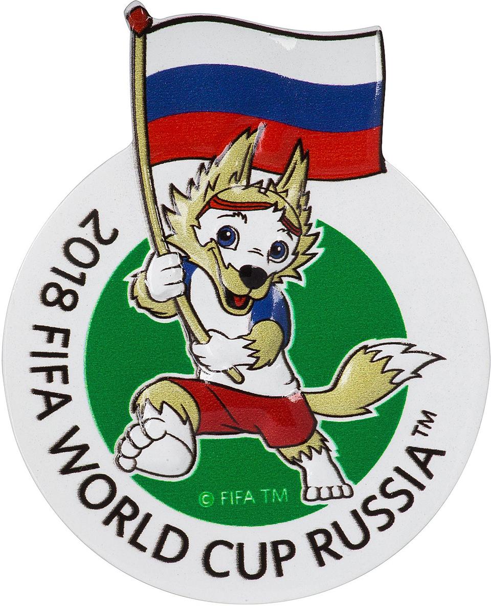 Магнит сувенирный FIFA 2018 Кубок, 6 х 13 см. СН039