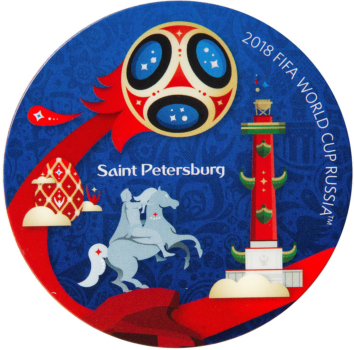 Магнит сувенирный FIFA 2018 Санкт-Петербург, 8 х 11 см. СН502