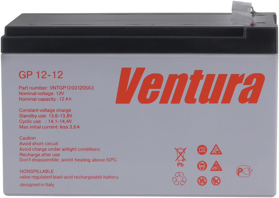Ventura GP 12-12 аккумуляторная батарея для ИБП - Источники бесперебойного питания (UPS)