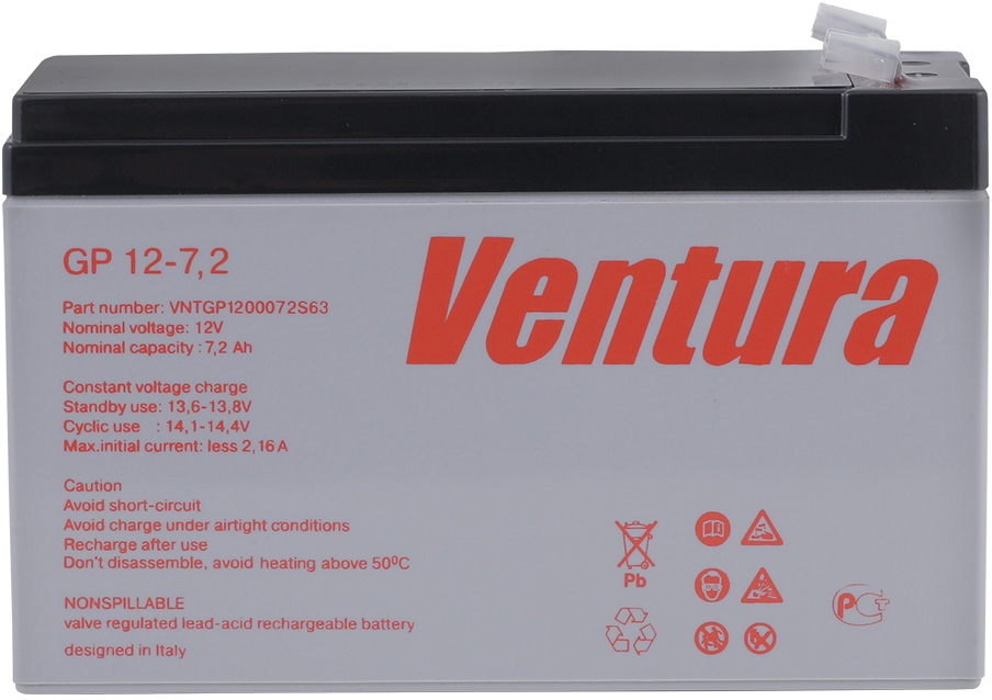 Ventura GP 12-7,2 аккумуляторная батарея для ИБП аккумуляторы для ноутбуков и планшетов
