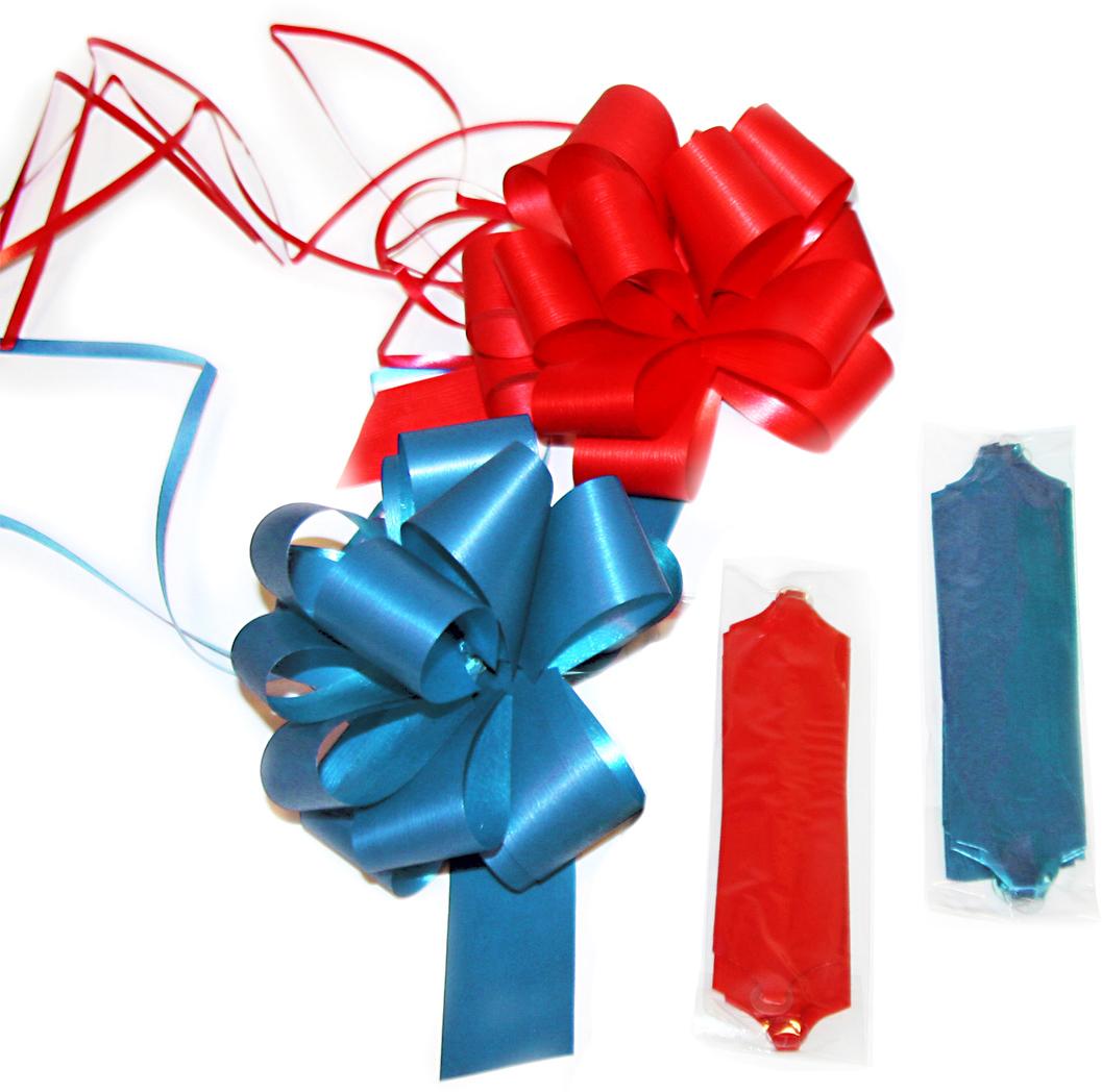 Бант упаковочный Veld-Co, бумажный, цвет: разноцветный, 3 х 12 см коробка подарочная veld co свадебный бабочки цвет слоновая кость 18 х 18 х 26 см