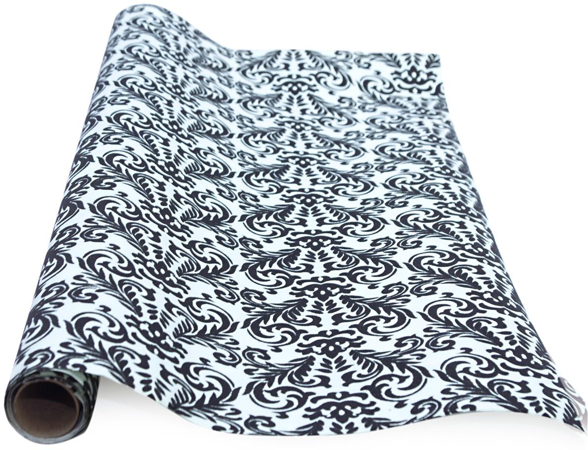 Бумага упаковочная Veld-Co, с элементами флока, цвет: белый, 70 см х 1 м аксессуары veld co набор переводных татуировок черепа