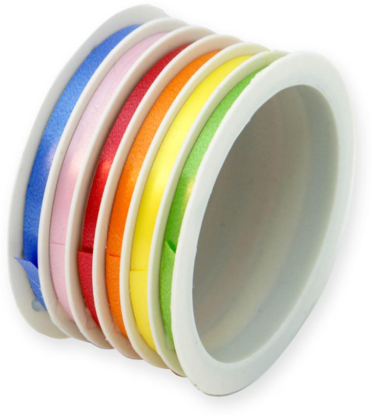 Набор упакокочных лент Veld-Co, цвет: разноцветный, 0,5 см х 4 м, 6 шт veld co набор инструментов 43896