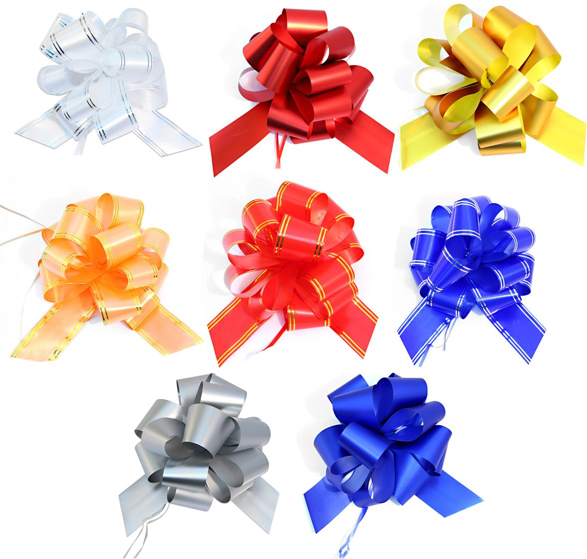 Бант упаковочный Veld-Co Шар, цвет: мультиколор, 5 х 148 см, 10 шт набор декоративных лент veld co парча металл 1 6 см х 3 м 30 шт